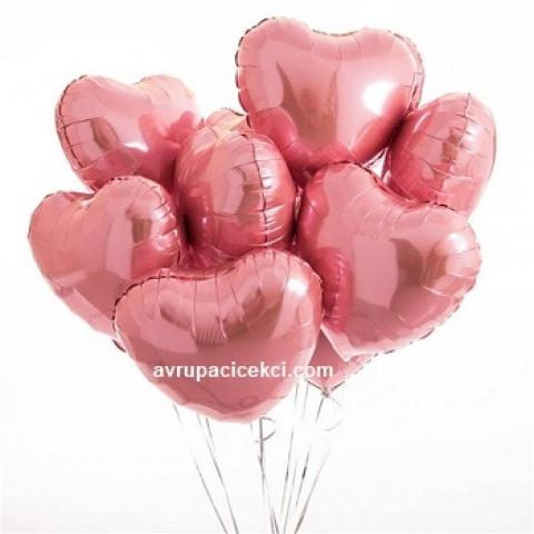 Kalpli Uçan Balon Tekli Pembe